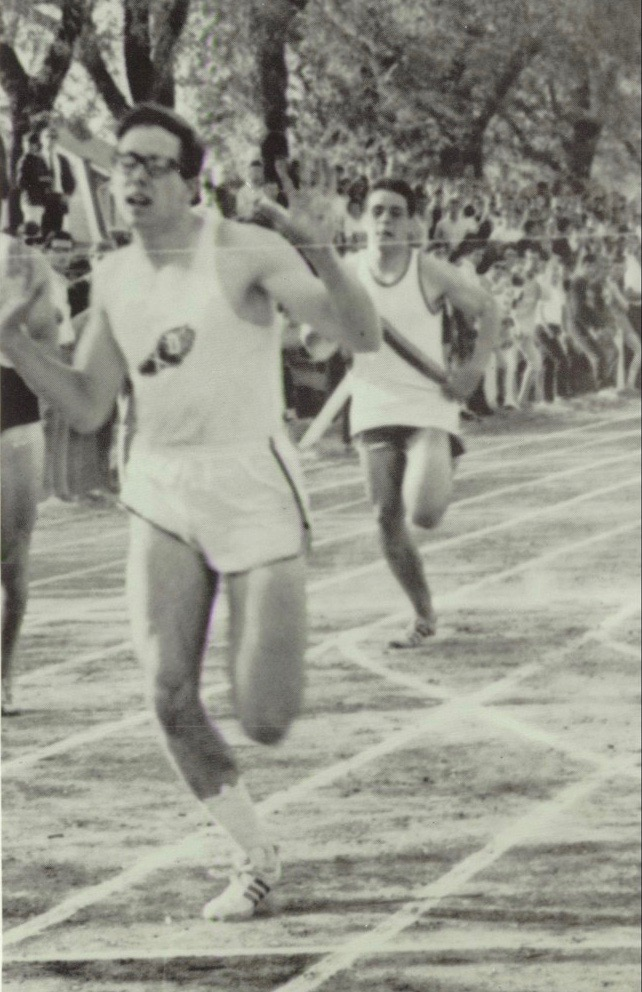 Roger sets the Catholic League record in the 220-yard dash, Catholic League Finals, 1966.